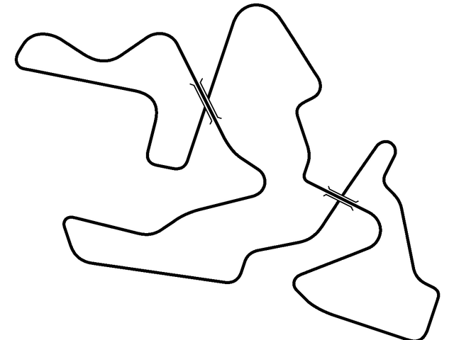 That's right, people, it's a race track that crosses over TWICE!!!