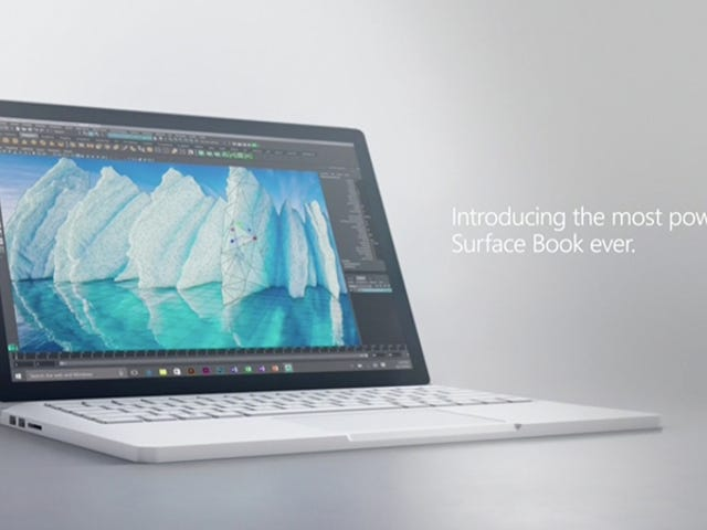 Microsoft Juices Its Surface Book With More Power and 16-Hour Battery Life