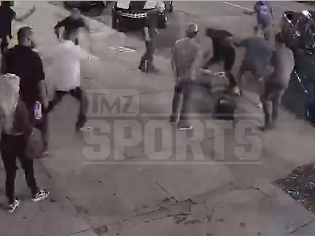 Guy In Charge Of Protecting Cam Newton On The Field Couldn't Protect Himself From Getting Knocked Out On The Street