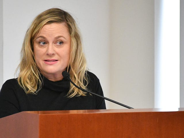 Ugh, don't ask Amy Poehler about comedy when the world sucks this fucking much