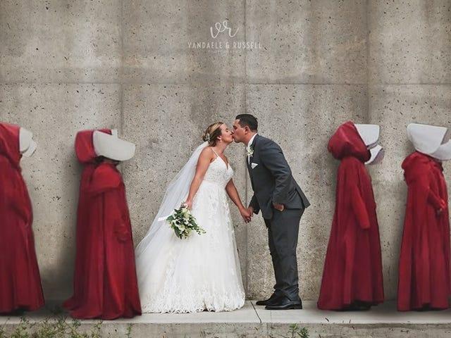 Είναι το πορτραίτο Γάμου αυτής της Νύφης Πάρα πολύ στη μύτη;
