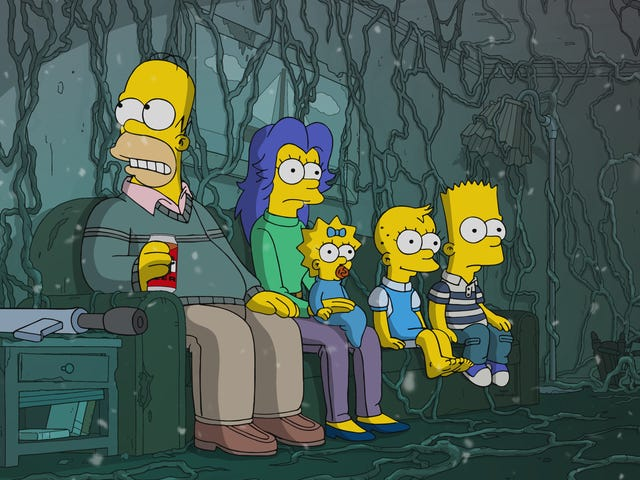 "The XXXth/666th ""Treehouse Of Horror"" is just The Simpsons' wheezy annual horror exercise"