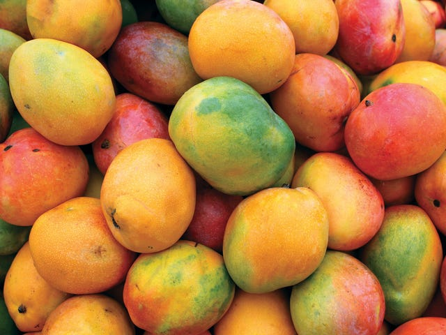 Mangoes are available year round. Let's do some mango things.