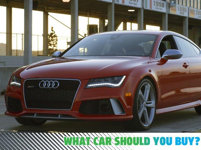Έχω $ 200.000 να ξοδεύω κάτι πιο γρήγορα από το Audi RS7 μου!  Ποιο αυτοκίνητο πρέπει να αγοράσω;
