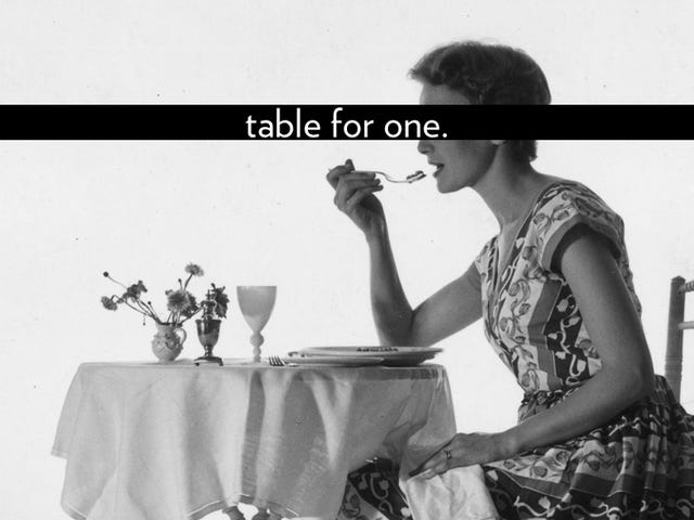 We're More 'Connected' Than Ever, But We're Mostly Eating Alone