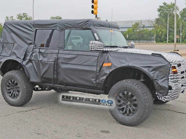 Likely Ford Bronco Raptor Prototype With Massive Fender Flares Shows Up In Michigan