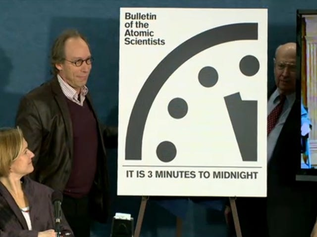 The Doomsday Clock Remains at 3 Minutes to Midnight, But That's Horrible News