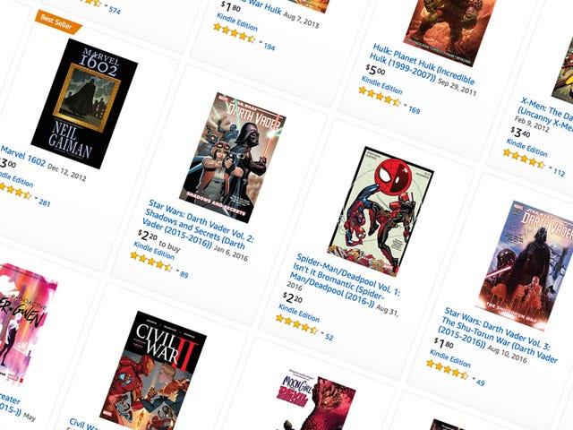 Amazon sælger tusindvis af vidunder digitale tegneserier for få penge hver for en eller anden grund