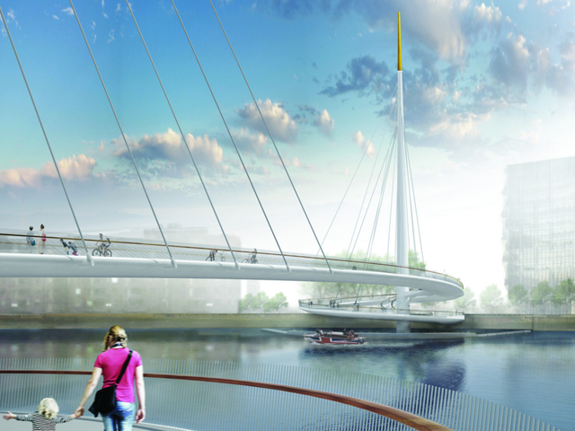 London's New Bridge For Pedestrians Solves a Common Problem With Clever Engineering
