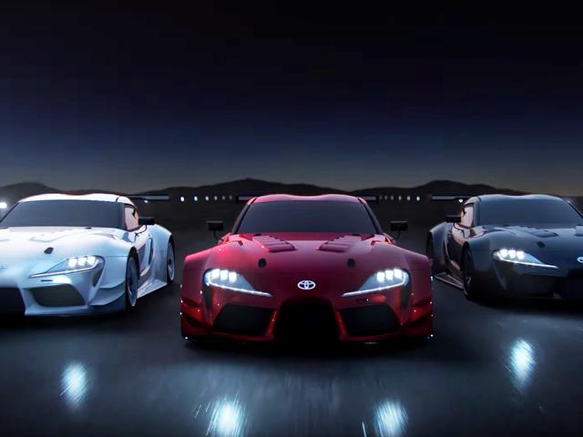 Це те, що новий Toyota Supra виглядає як без всіх цих наклейок