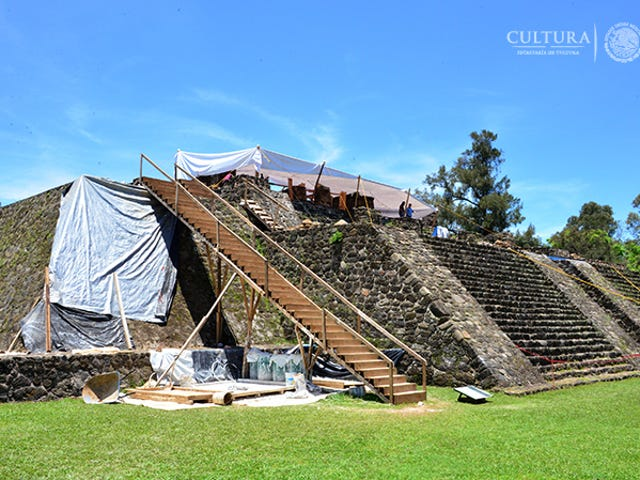 An Earthquake Damaged a Pyramid in Mexico—and Exposed an Aztec Temple Hidden Below