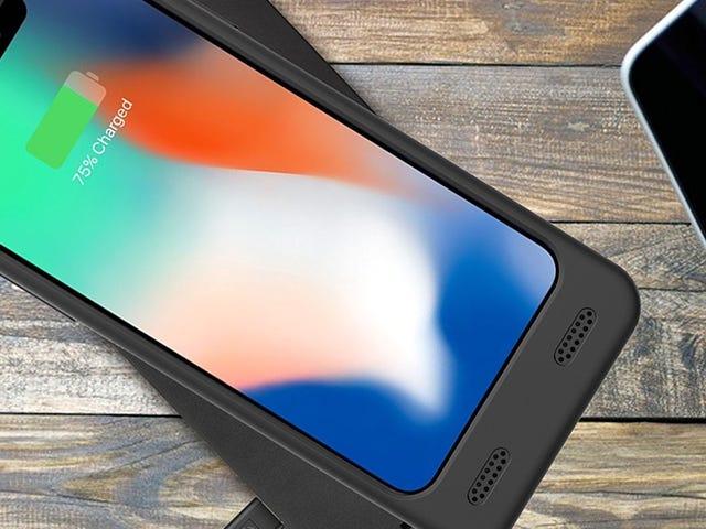 Подвійний заряд батареї вашого iPhone X за допомогою цього 24-дюймового Qi-сумісного випадку