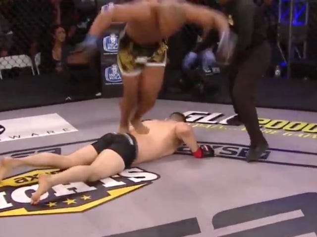 MMA Guy Apologizes For Celebrating Bizarre KO With Front Flip Off Opponent's Body