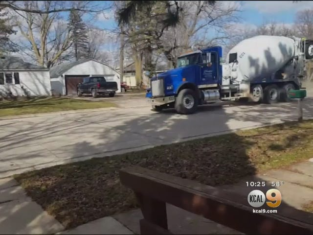 Check Out This 11 Year Old Hauling The Mail In A Stolen Cement Mixer