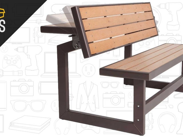 This $150 Lawn Bench Can Double as a Picnic Table