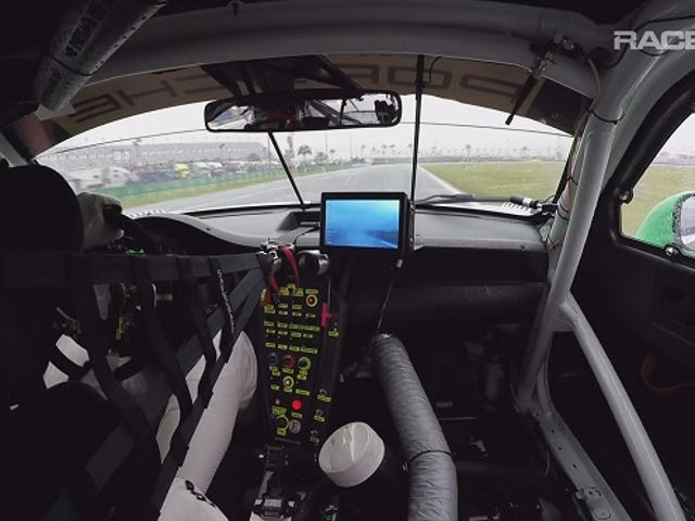 RACER Video: Leh Keen WeatherTech Porsche 911 GT3 R in car Rolex 24