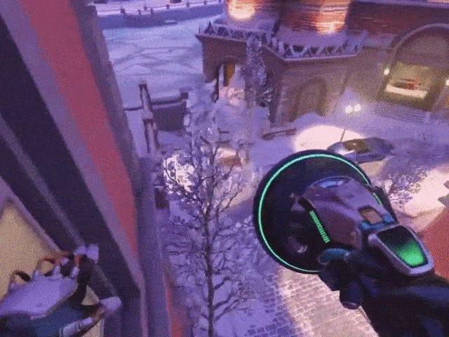<i>Overwatch</i> jugador de <i>Overwatch</i> es un demonio que monta en la pared