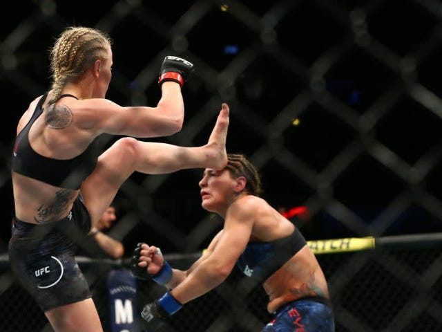 Valentina Shevchenko Just About Kicked Jessica Eye's Head Off