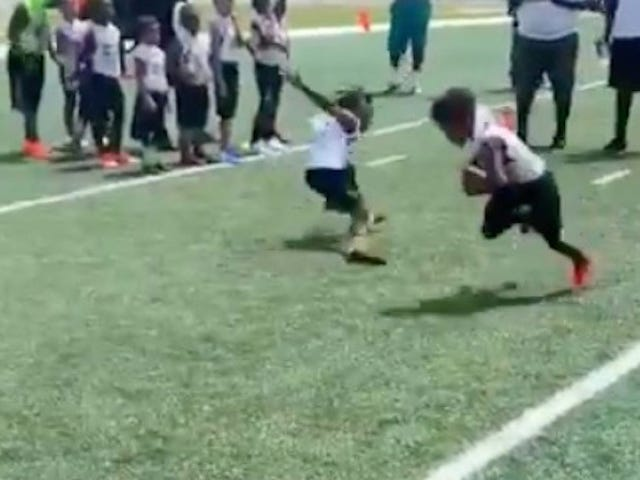Devin Hester's Son Is Just As Hard To Tackle