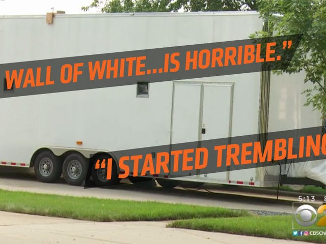 Giant White 25-Foot Trailer Parked In Driveway Tears Neighborhood Apart