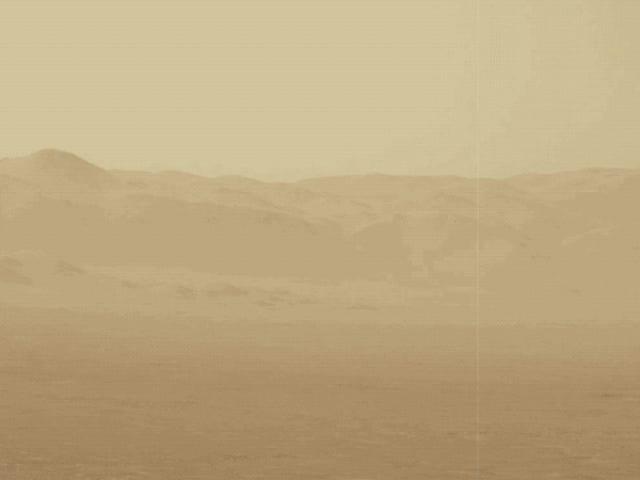 La tormenta de polvo en Marte es grande que rodea todo el planeta
