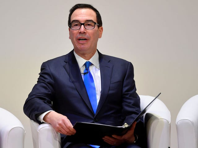 Steve Mnuchin Says He Will Comply With Law to Release Trump's Tax Returns, Maybe