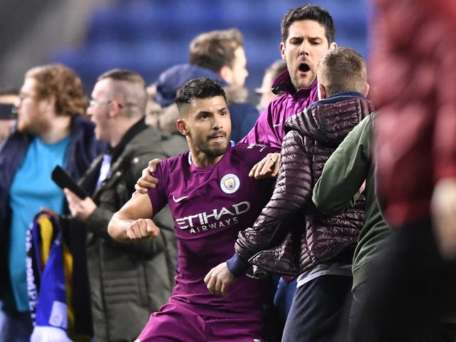 Sergio Agüero Under Investigation After Squaring Up With Dumbass Pitch Invader