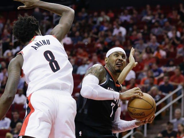 Det sikkert høres ut som Rockets og Carmelo Anthony er ferdig med hverandre