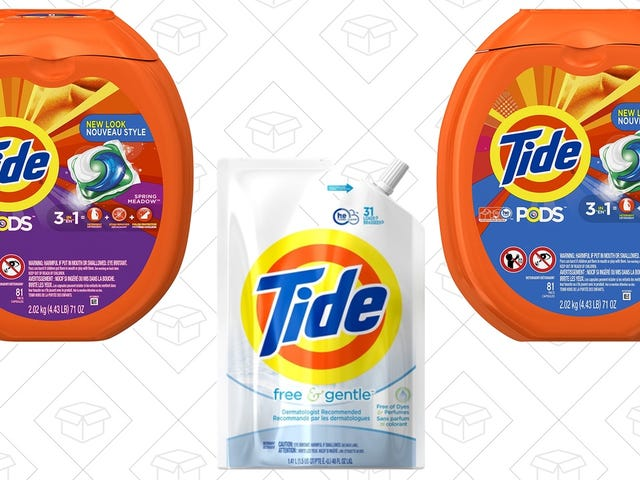 Save Up to $5 With Amazon's Tide Detergent Coupons