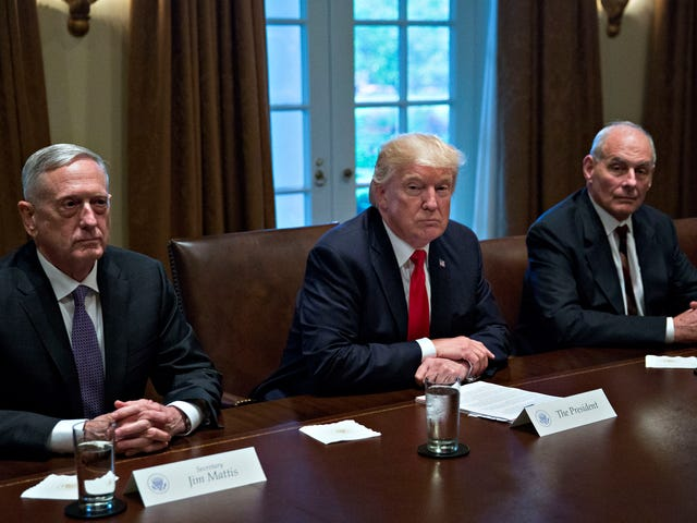 Trump Met With Top Military Leaders and Teased the Threat of War Because He's an Asshole