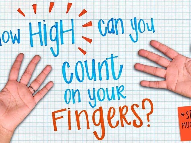 Bruk den binære fingermetoden til enkelt å telle til 59.048 eller høyere