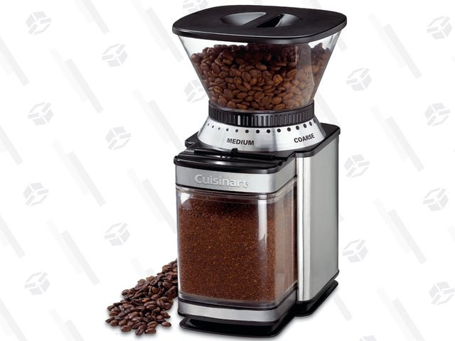 Make Fresh Ground Coffee At Home With This $37 Burr Mill