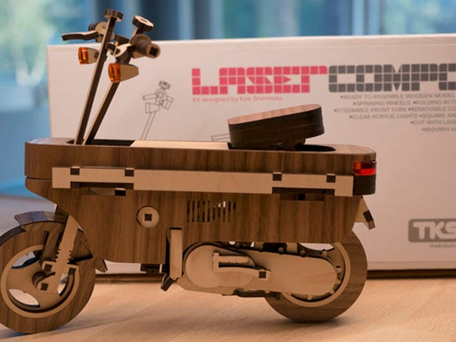 Buy The Hell Out Of This Awesome Little Laser-Cut Wooden Honda Motocompo Model