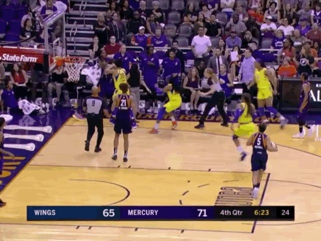 Brittney Griner Ejected After Chasing Wings' Kristine Anigwe Down The Court