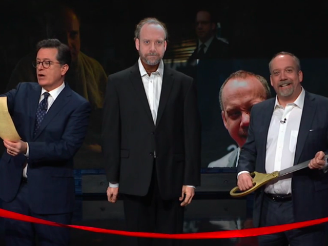 Stephen Colbert and Paul Giamatti bring the saga of the presidential wax figure to a happy conclusion