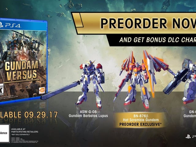 Gundam Versus Fan - Preorder the Game kung gusto mo Hot Scramble Gundam