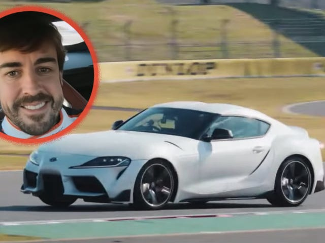 Watch Fernando Alonso's Face as He Buries the Brake Pedal in a 2020 Toyota Supra
