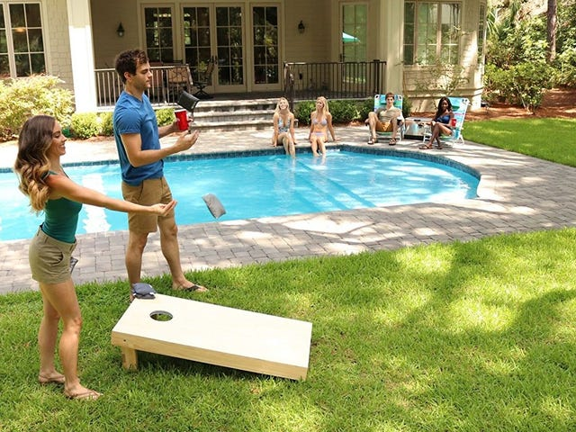 Grab a Discounted Cornhole Set For Your Next Backyard Barbecue