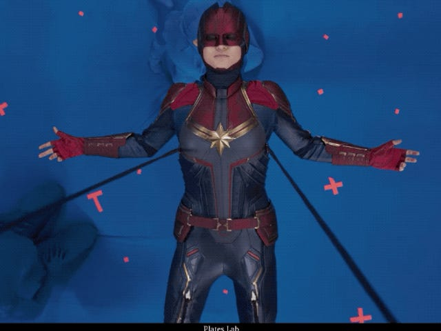 Así se hicieron los einfos visuales en Captain Marvel