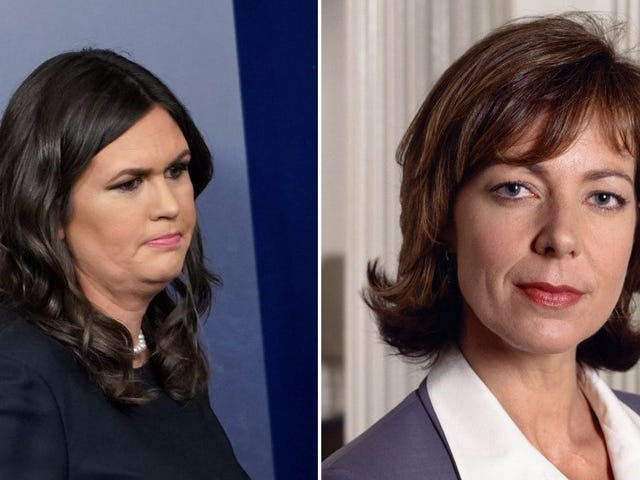 The West Wing cast has no time for Sarah Sanders comparing herself to C.J. Cregg