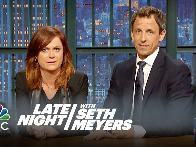 Amy Poehler se unió a Seth Meyers para un misogyny Sports-Themed <i>Really!?!</i>