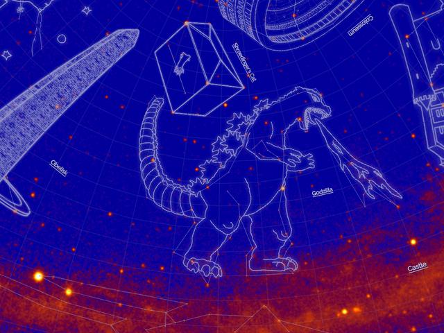 La NASA bautiza 21 nuevas constelaciones de rayos gamma con nombres como Hulk, Mjolnir, Tardis y Godzilla