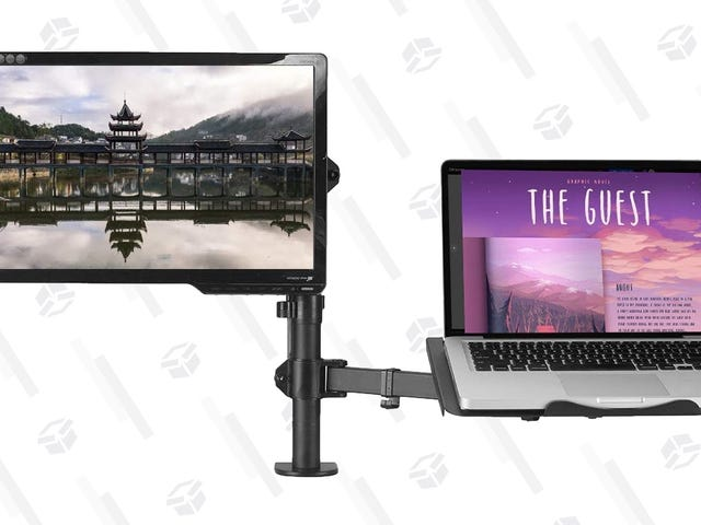 Get Your Monitor and Your Laptop Off Your Desk With This Dual Stand