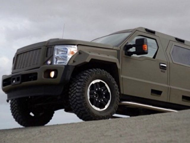Turn Your Ford Pickup Truck Into An MRAP For Less Than $200,000