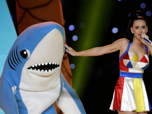 Left Shark Awkwardly Dances Free from Katy Perry's Trademark Grasp