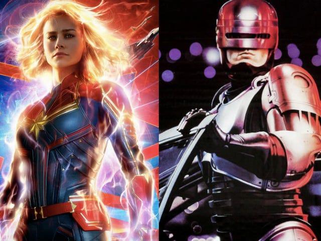 Captain Marvel è fortemente ispirato da RoboCop, ma non per le ragioni che pensi