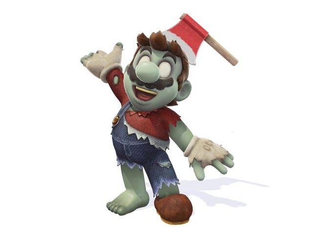 Mario Is Dressing Up As Luigi For Halloween
