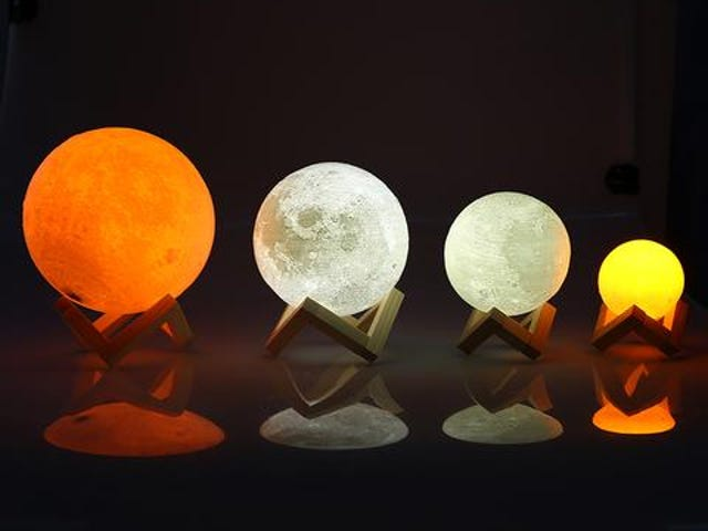 Rechargeable LED Night Light Moon Lamp 3D Print Moonlight