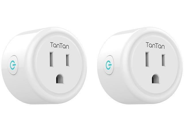 21% KORTING- 2 Pack TanTan Smart Plug WiFi ingeschakeld Mini Smart Switch compatibel met Amazon Alexa & Google Assistant, geen hub vereist $ 19,8 @ Amazon