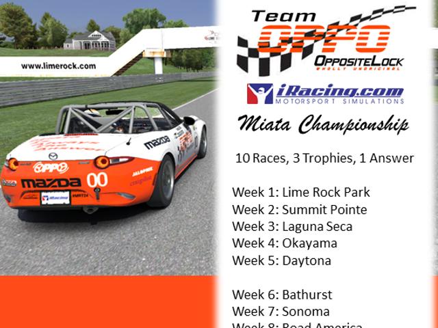 The Oppositelock Miata Championship - Series Proposal